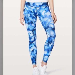 Lululemon Blue & White Leggings